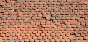 XVIII w. - Dachówka karpiówka ułożona w łuskę